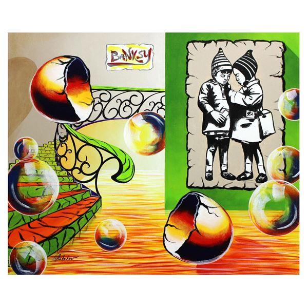 "Alexander Astahov- Original Oil on Canvas ""Banksy's Place"""