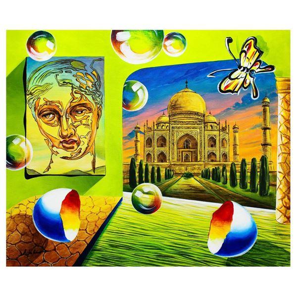 "Alexander Astahov- Original Oil on Canvas ""Taj Mahal view"""