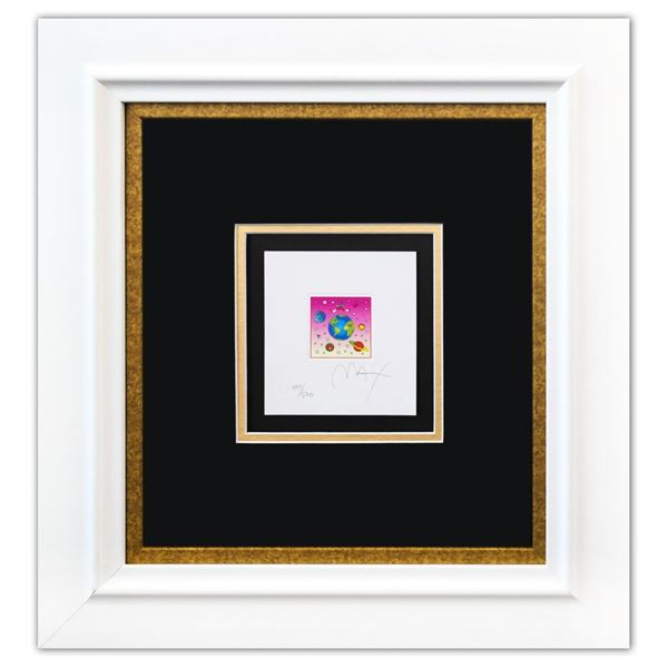 """Peter Max- Original Lithograph """"Cosmic Runner with Planets (Mini)"""""""