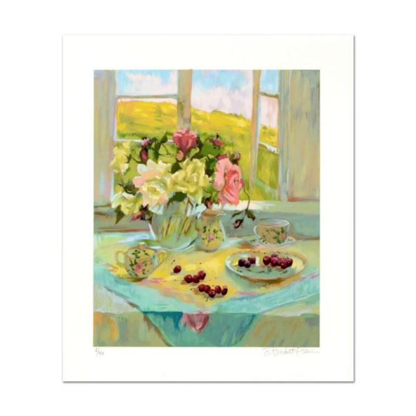 """S. Burkett Kaiser, """"Spring Roses"""" Limited Edition, Numbered and Hand Signed with Letter of Authentic"""