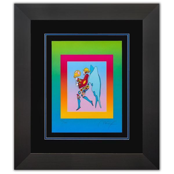 """Peter Max- Original Lithograph """"Tip Toe Floating on Blends II"""""""