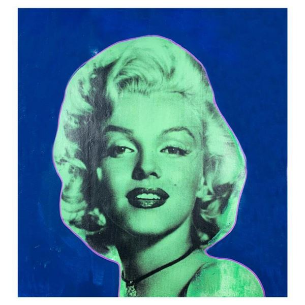 """Steve Kaufman (1960-2010) """"Marilyn Monroe"""" Hand Signed Limited Edition Hand Pulled silkscreen Mixed"""