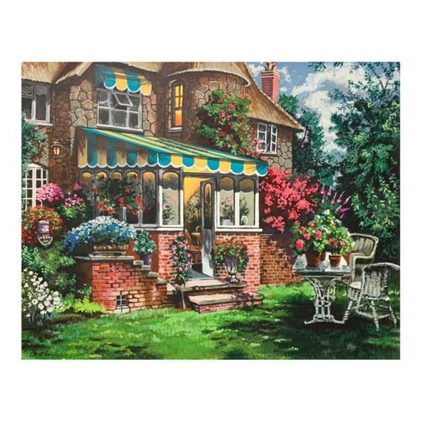 """Anatoly Metlan, """"Greenhouse"""" Limited Edition Serigraph, Numbered and Hand Signed with Letter of Auth"""