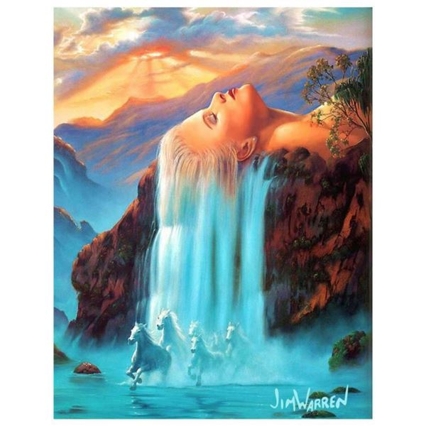 """Jim Warren, """"Daydreams"""" Hand Signed, Artist Embellished AP Limited Edition Giclee on Canvas with COA"""
