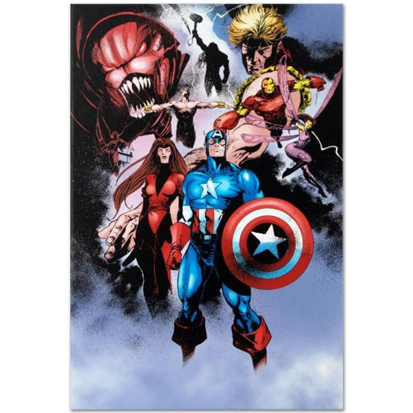 """Marvel Comics """"Avengers #99 Annual"""" Numbered Limited Edition Giclee on Canvas by Leonardo Manco with"""