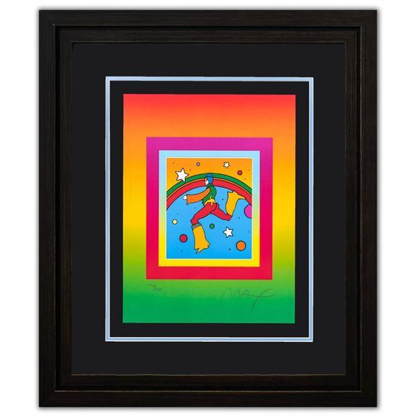 "Peter Max- Original Lithograph ""Cosmic Jumper on Blends"""