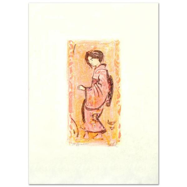 """""""Ume"""" Limited Edition Lithograph by Edna Hibel (1917-2014), Numbered and Hand Signed with Certificat"""