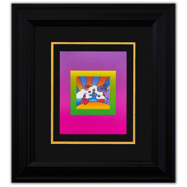 "Peter Max- Original Lithograph ""COSMIC RUNNER on Blends Ver. II"""