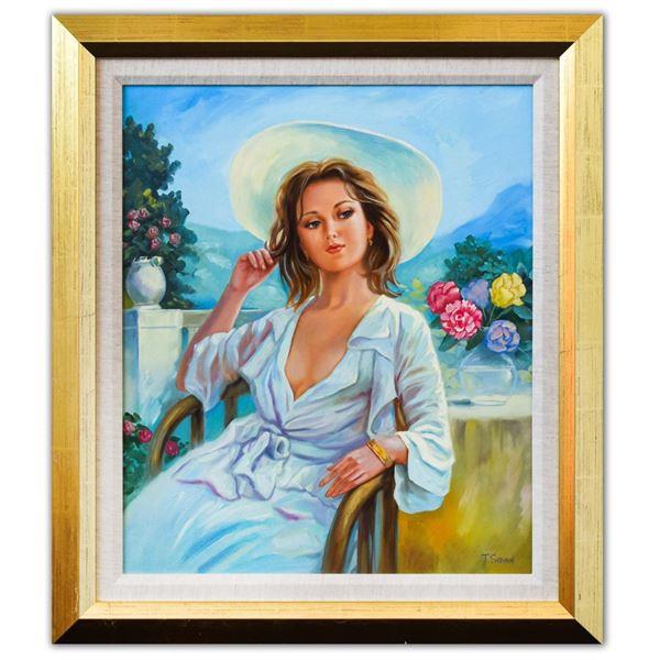 "Taras Sidan- Original Oil on Canvas ""Vacation in Barcelona"""