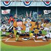 """Image 2 : """"Line Up At The Plate (Cubs)"""" is a Limited Edition Giclee from Warner Brothers with Hologram Seal an"""