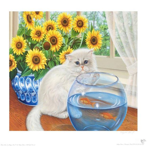 """""""Home Alone"""" Limited Edition Lithograph by Barbara Higgins-Bond. Numbered and Hand Signed by the Art"""