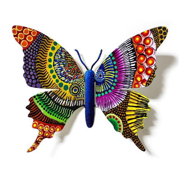 Patricia Govezensky- Original Painting on Cutout Steel  Butterfly CXVIII