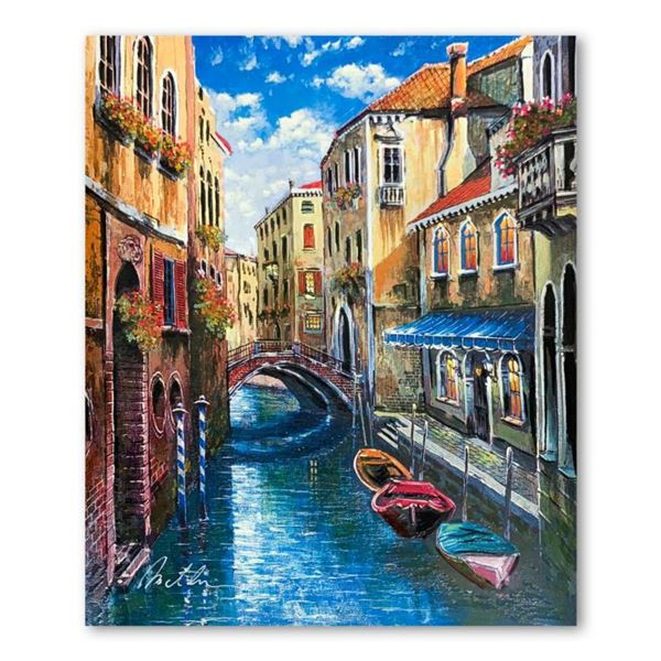 """Anatoly Metlan, """"Venice"""" Hand Signed Limited Edition Serigraph on Paper with Letter of Authenticity."""