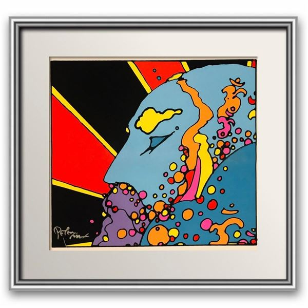 """Peter Max- Original Vintage hand pulled Serigraph on paper  """"Untitled"""""""