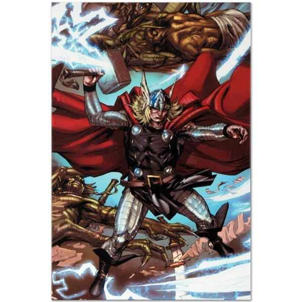 Marvel Comics  Thor: Heaven and Earth #3  Numbered Limited Edition Giclee on Canvas by Pascal Alixe