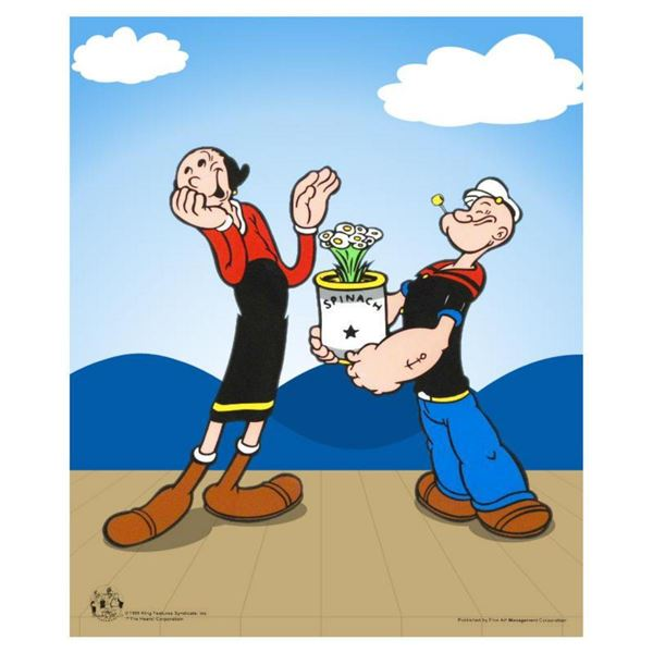Popeye Spinach  Limited Edition Popeye Sericel with Official King Features Syndicate Seal. Includes
