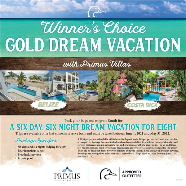 Dream Vacation for 8- Gold Package