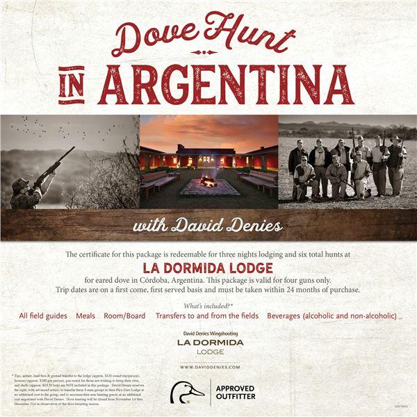 Dove Hunt for 4 in Argentina- LaDormida Lodge