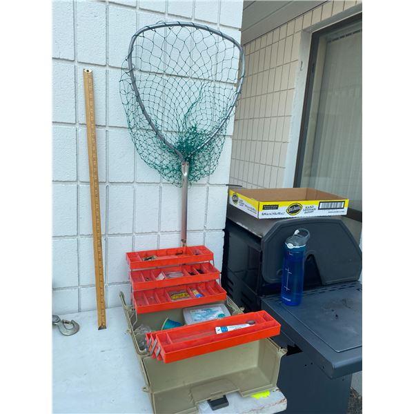 Tackle box and fish net