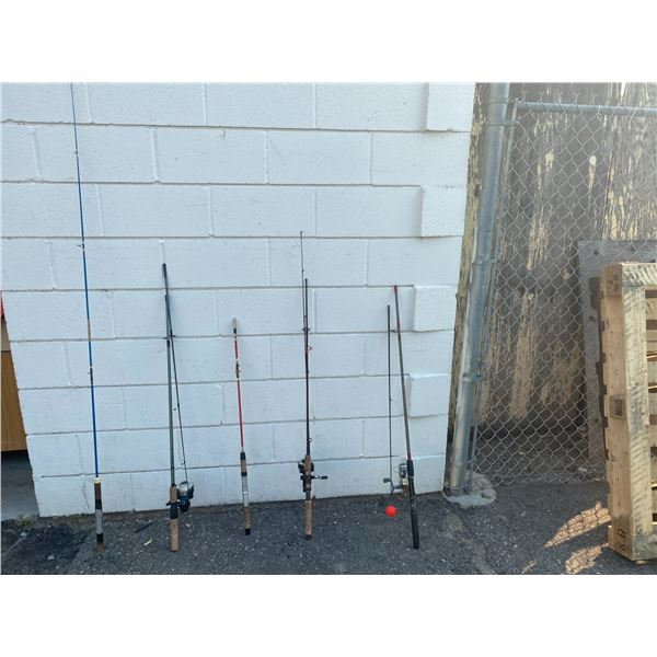 Lot of fishing rods and reels