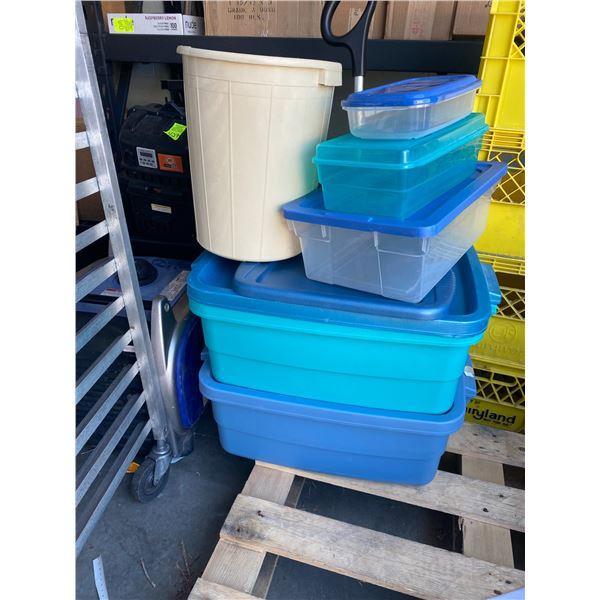 Lot storage bins