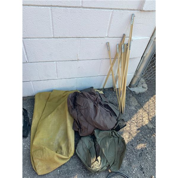 Canvas bag and tent