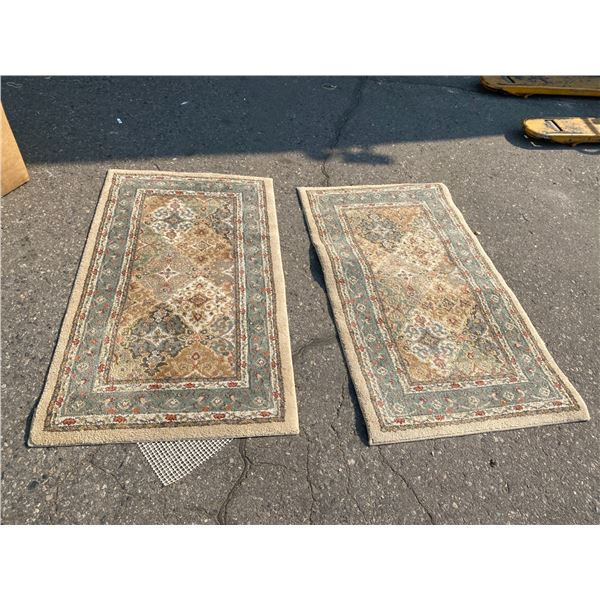 Smaller area carpets (2) 25 inches c 44 inches