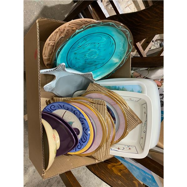 Lot dishes etc