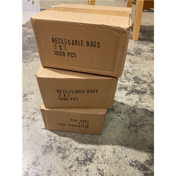 """3""""x3"""" reclining bags 3 boxes"""