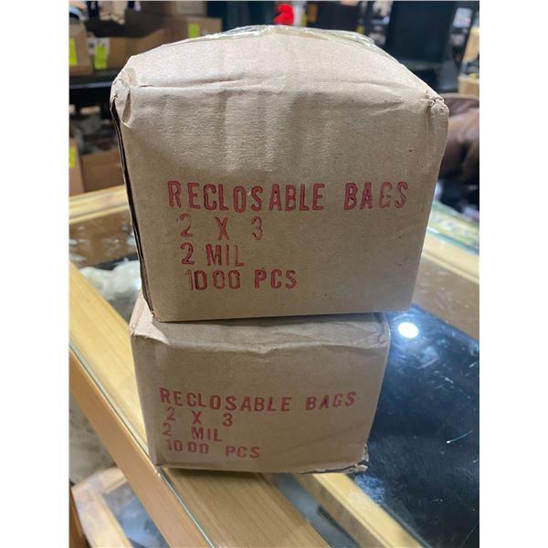 "2""x3"" reclosing bags 2 boxes"