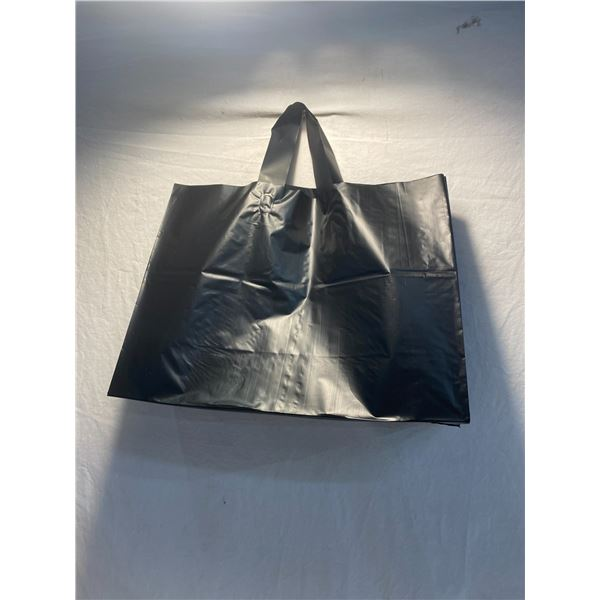 Case of black handled bags