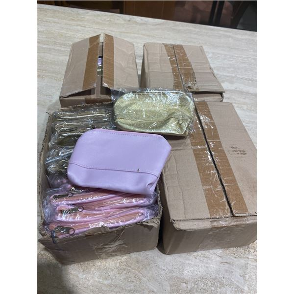 4 boxes small make up bags or change purses