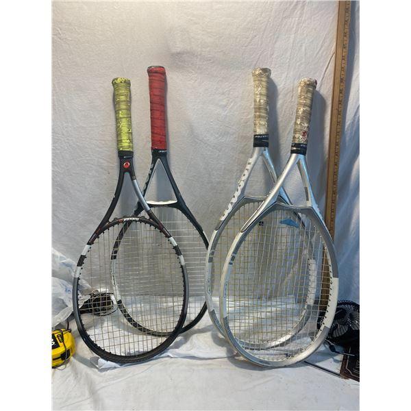 4 racquets
