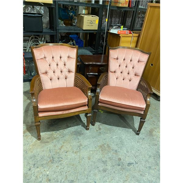 Pair accent chairs