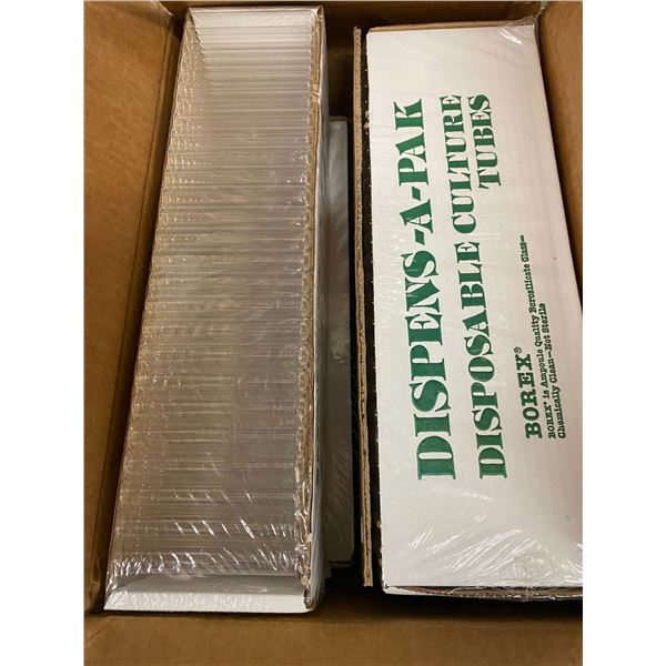 2 cases 16x 100 mm disposable tubes