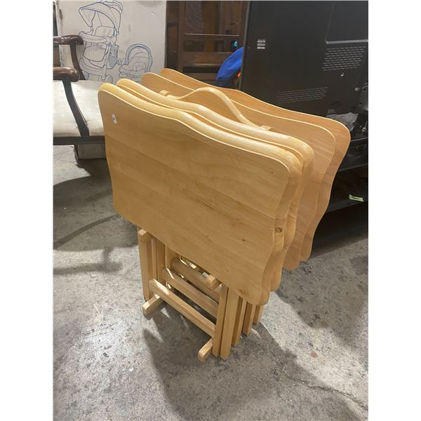 TV trays on stand