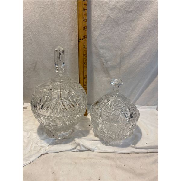 Crystal lidded dishes