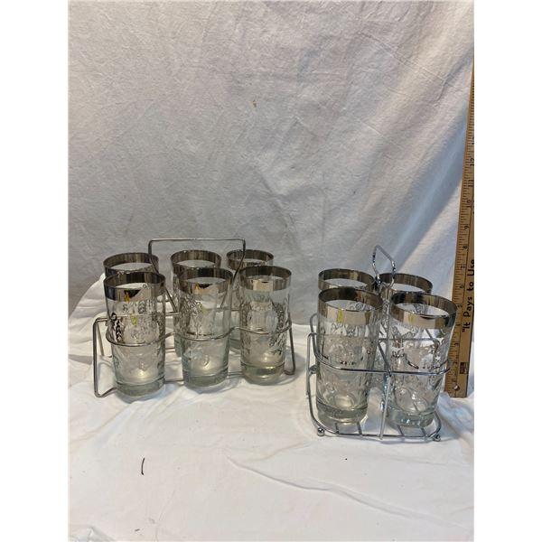 Vintage anniversary glass sets
