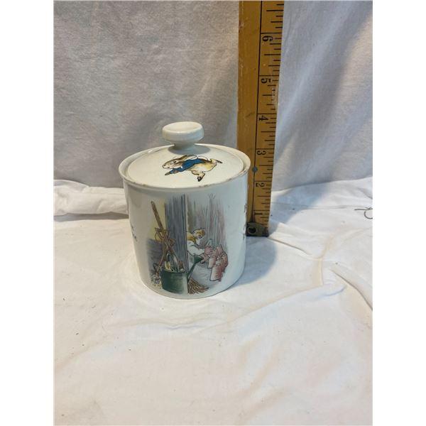 Wedge wood Peter Rabbit lidded jar