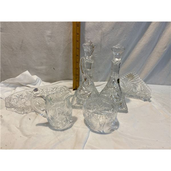 Crystal serving items