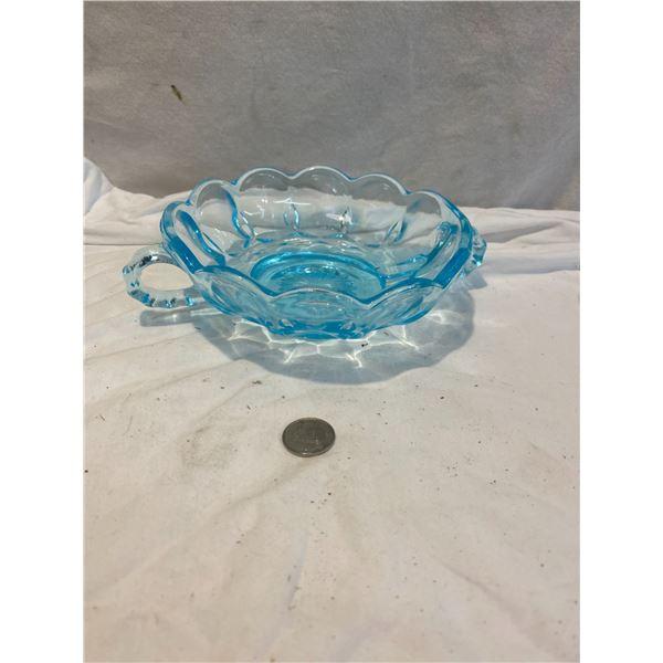 4 Blue dishs smaller
