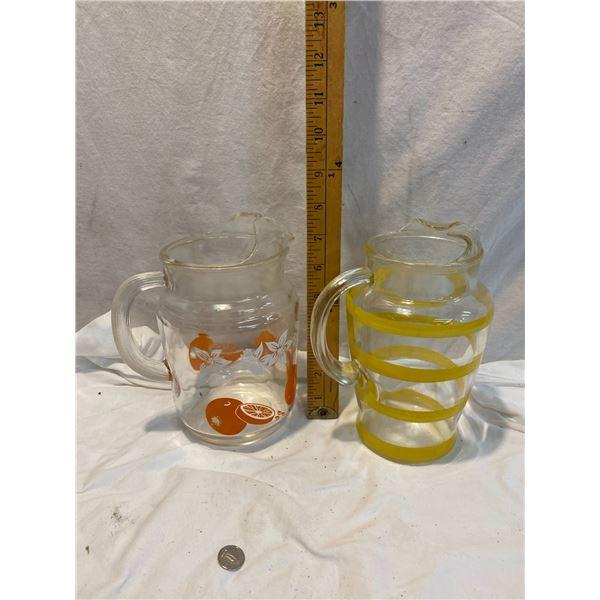 Glass juice jugs