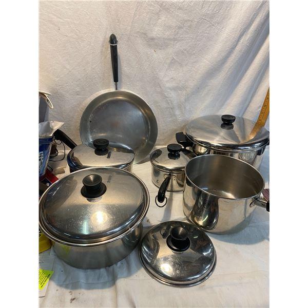 Pots and pans one has broken handle revere ware