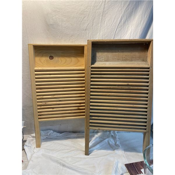 Two washboards