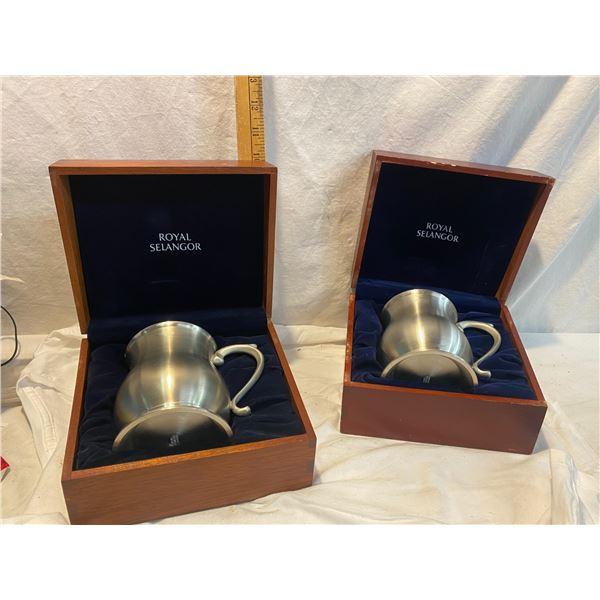 Royal Selangorpewter mugs