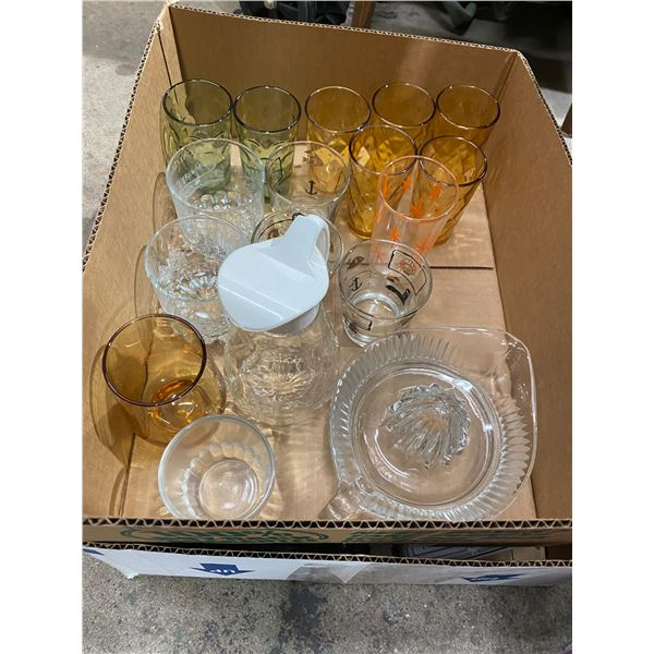 Vintage glasses and other