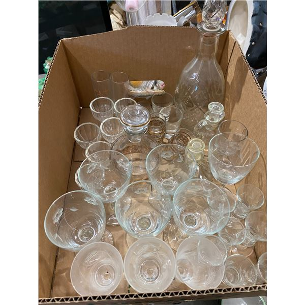 Egg cups and decanters etc