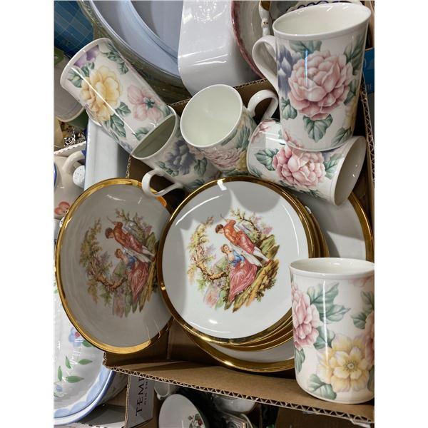 Mugs and decor plates