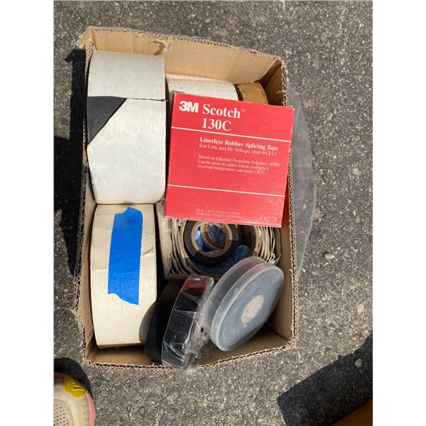 Lot of tape and misc