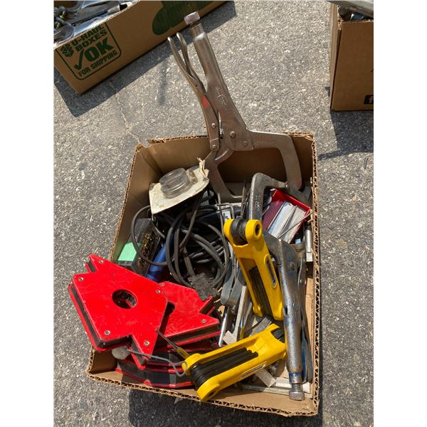 Clamps, magnets abs other tools